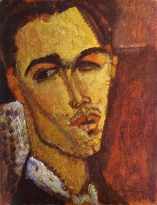 Amedeo Modigliani - Retrato do pintor espanhol Celso Lagar