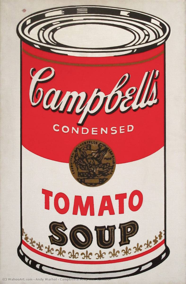 famous painting Campbell'S lata de sopa ( tomate ) of Andy Warhol