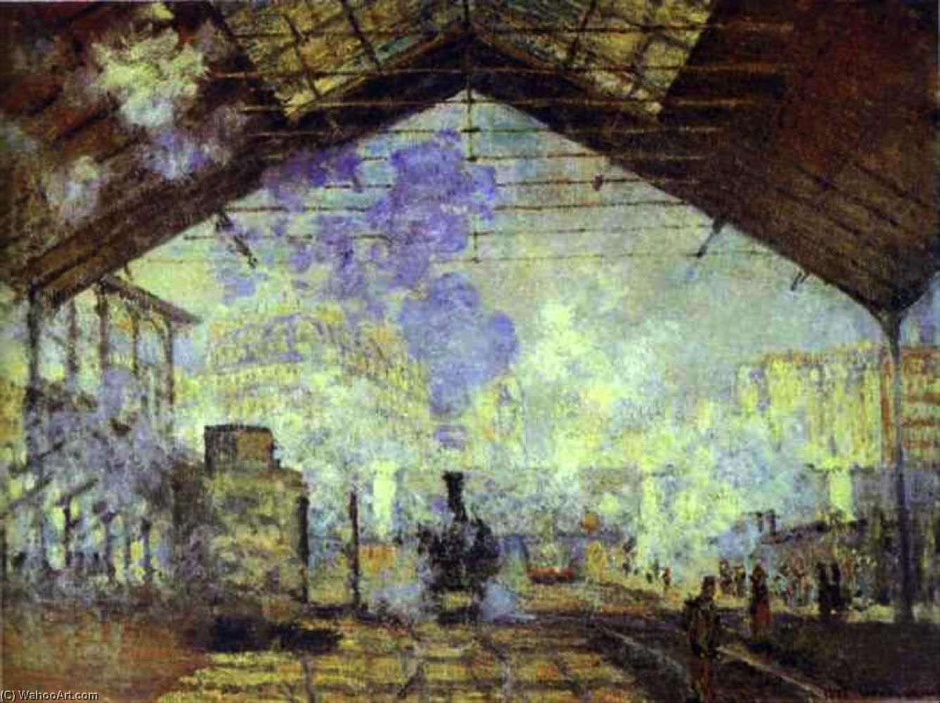 famous painting Gare São Lazare , Pari of Claude Monet