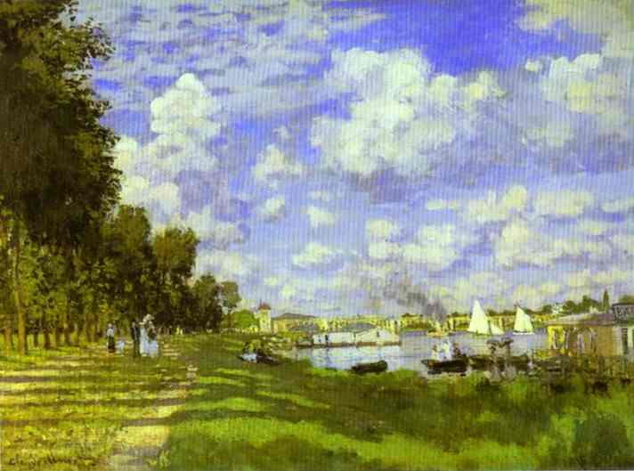 famous painting o porto na argenteuil of Claude Monet