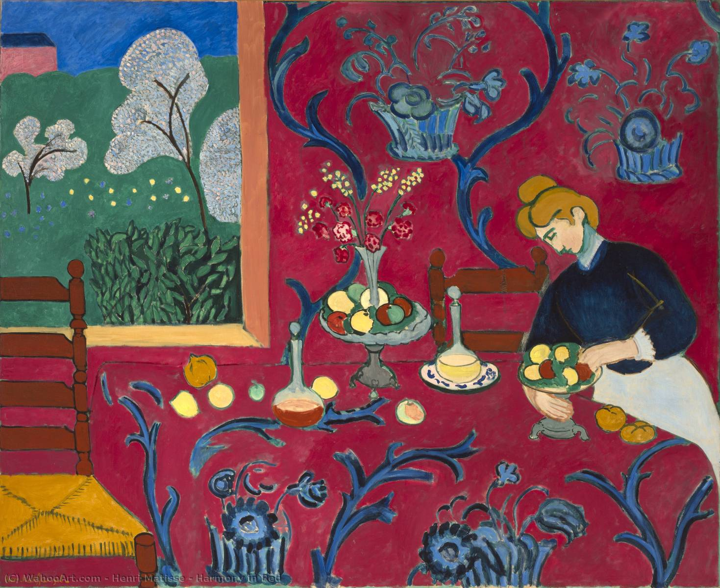 | harmonia no vermelho por Henri Matisse | Most-Famous-Paintings.com