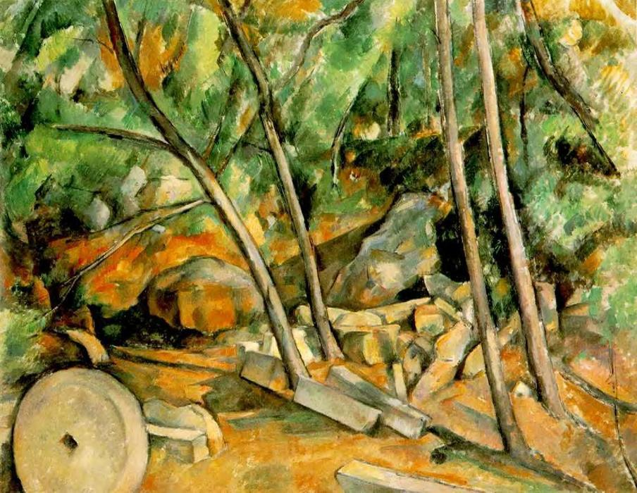 famous painting Madeiras com Millstone of Paul Cezanne