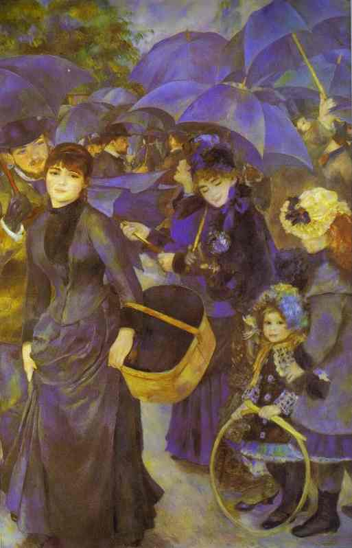 famous painting Os guarda-chuvas of Pierre-Auguste Renoir