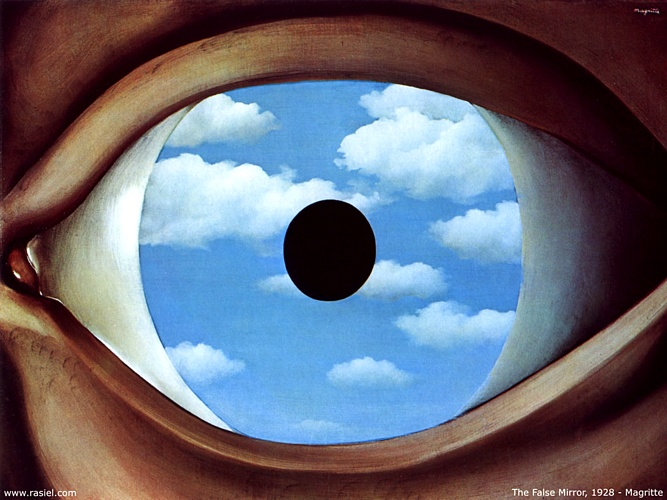 | Espelho falso por Rene Magritte | Most-Famous-Paintings.com