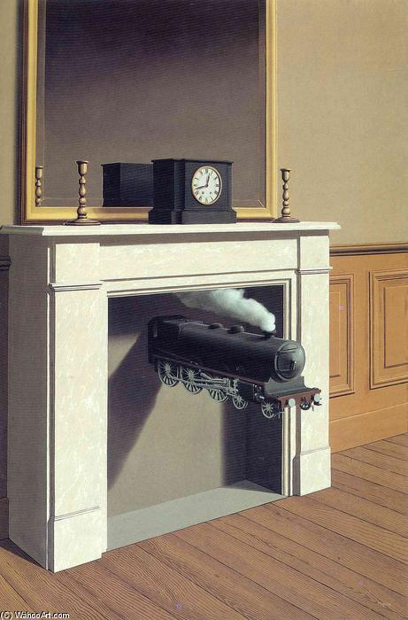 famous painting Tempo paralisado of Rene Magritte