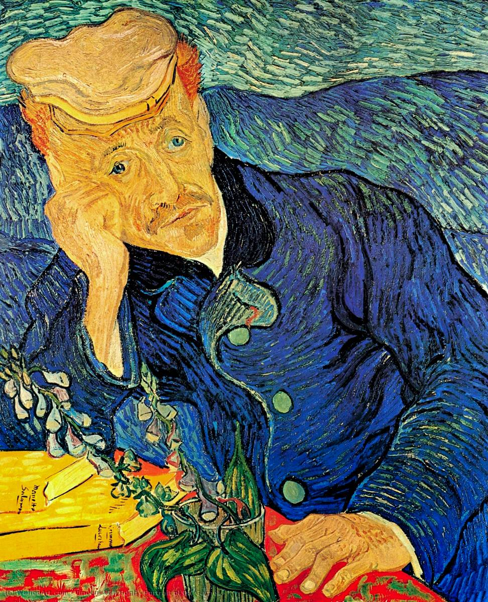 famous painting retrato do dr . Gachet of Vincent Van Gogh
