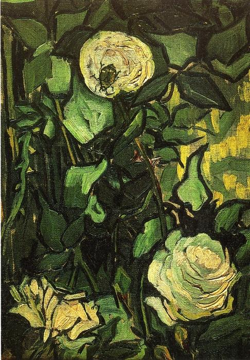 famous painting Rosas e Beetle of Vincent Van Gogh