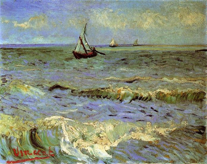famous painting Seascape em Saintes-Maries of Vincent Van Gogh
