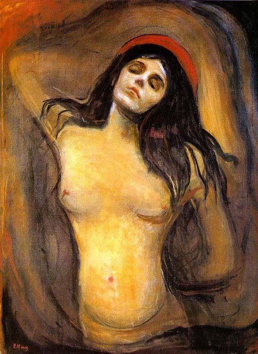 famous painting Madona of Edvard Munch
