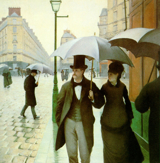 famous painting paris rua chuvoso  dia  of Gustave Caillebotte