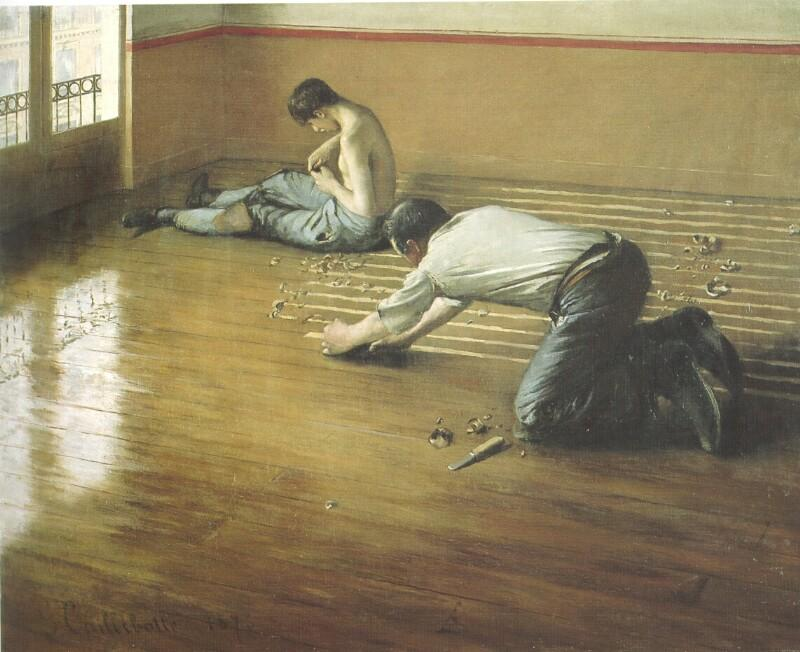 famous painting Os raspadores Pavimento of Gustave Caillebotte