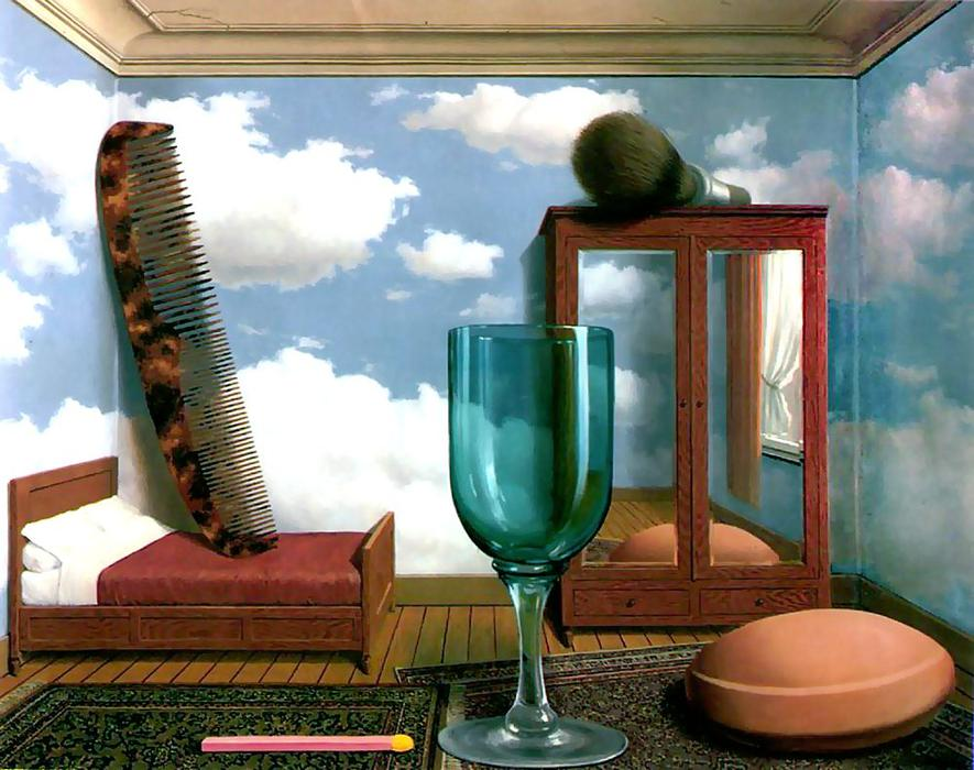 famous painting Valores pessoais of Rene Magritte