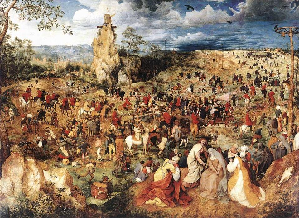 famous painting Cristo carregando a cruz of Pieter Bruegel The Elder
