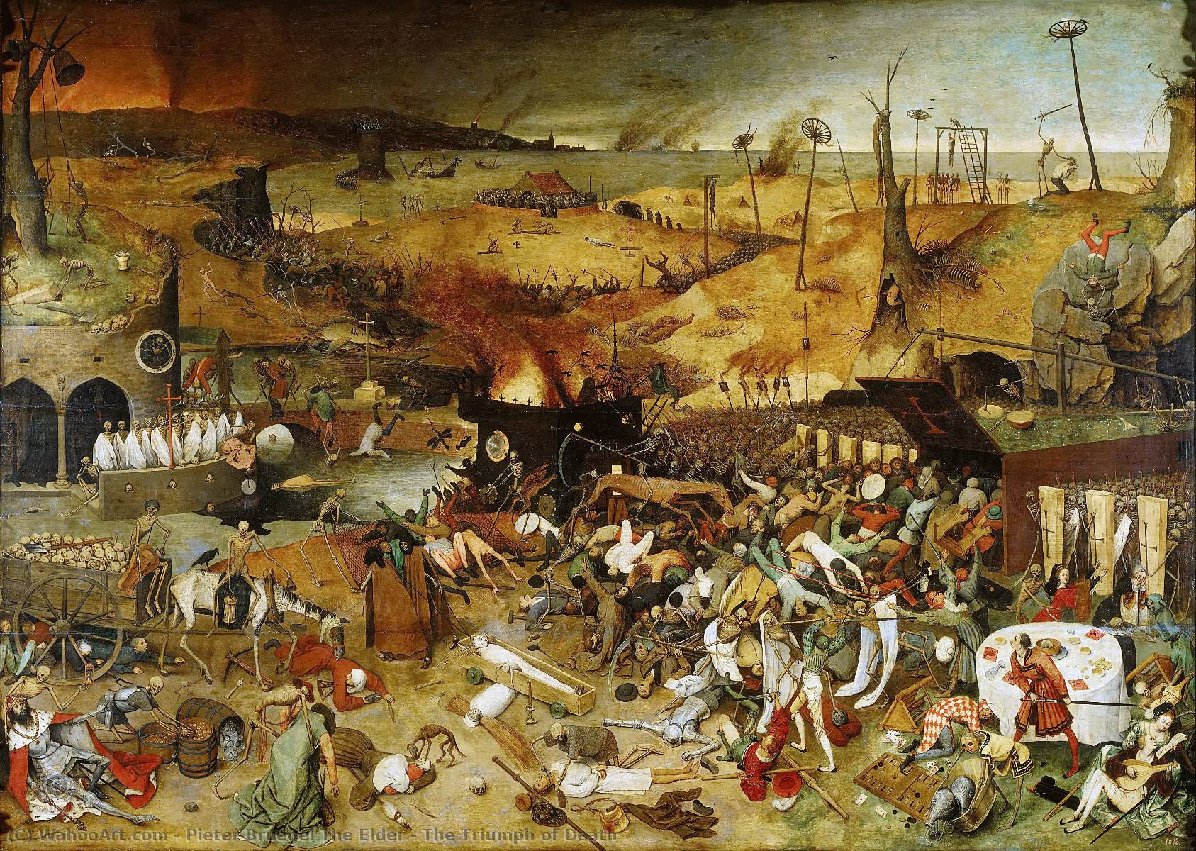 famous painting A Triumph of Death of Pieter Bruegel The Elder