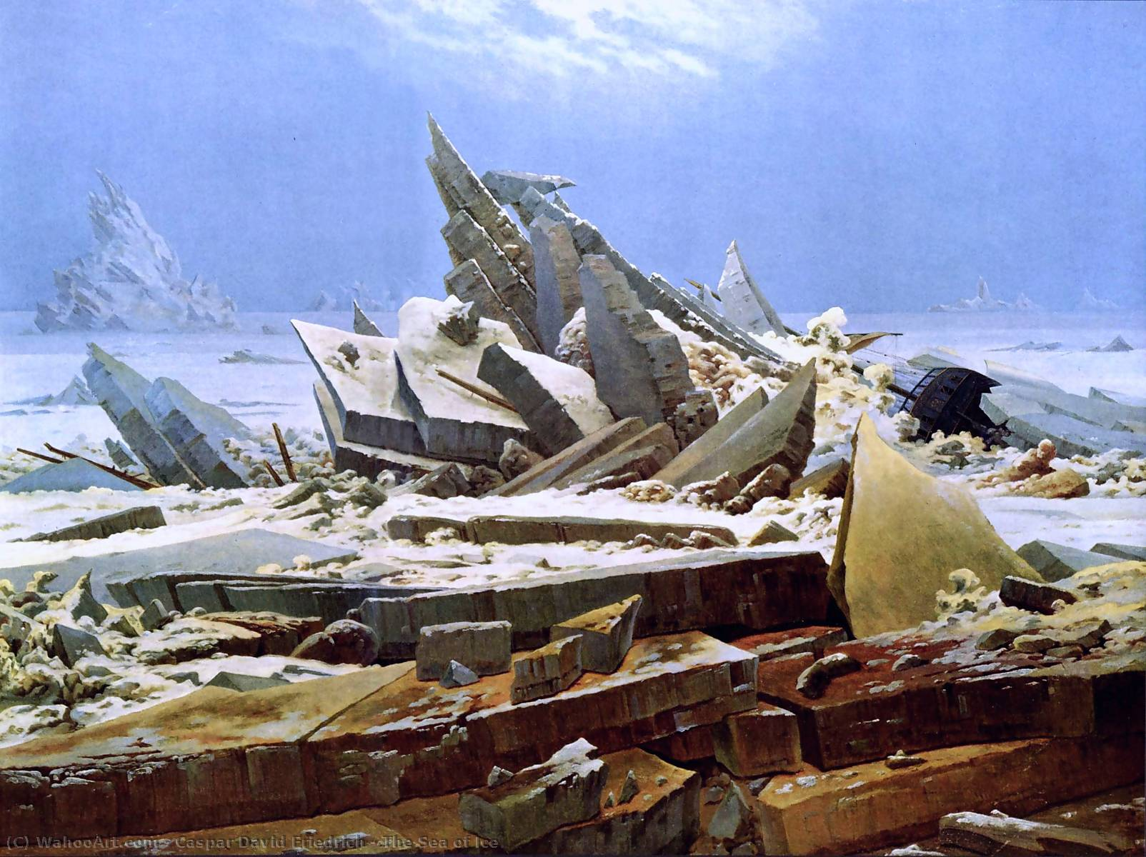 famous painting O mar do gelo of Caspar David Friedrich