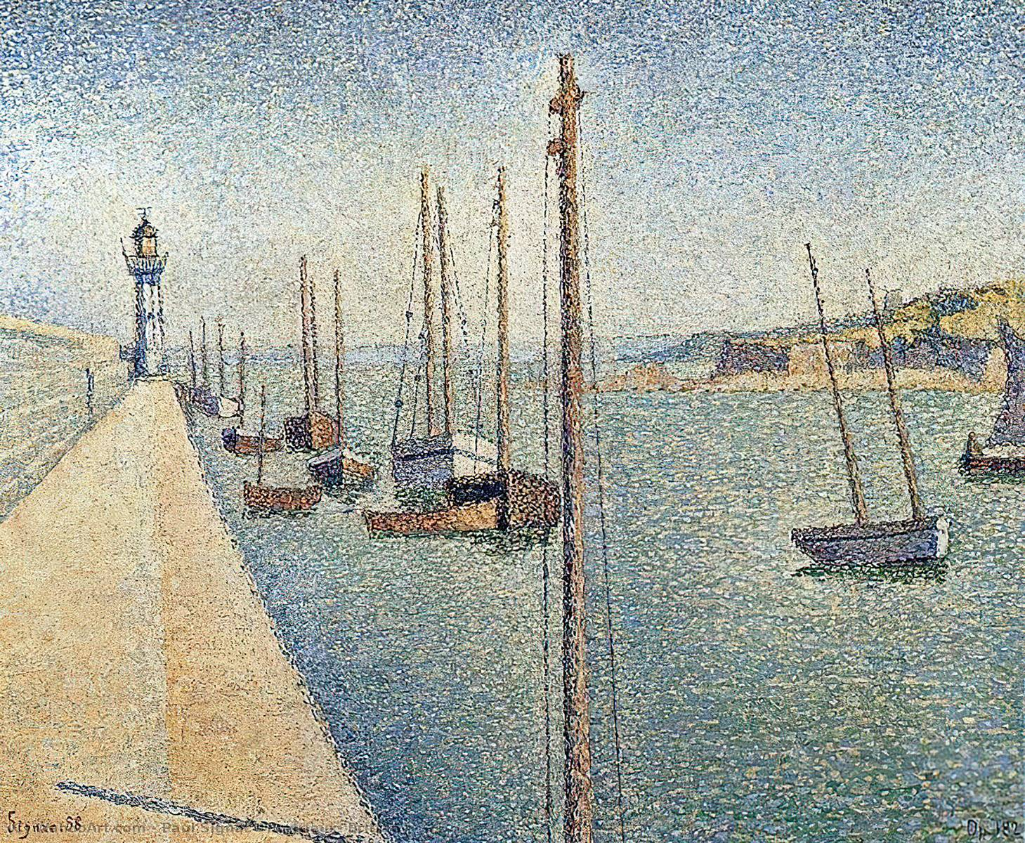 famous painting Portrieux , Bretanha of Paul Signac