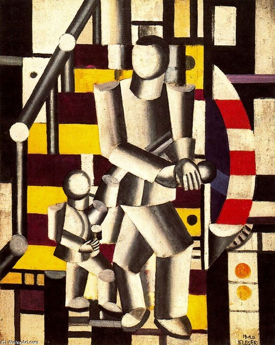 famous painting o Staircase2   of Fernand Leger