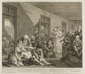 William Hogarth - Plate oito , de um Rake's Progress