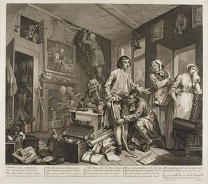 William Hogarth - Plate one , de um Rake's Progress