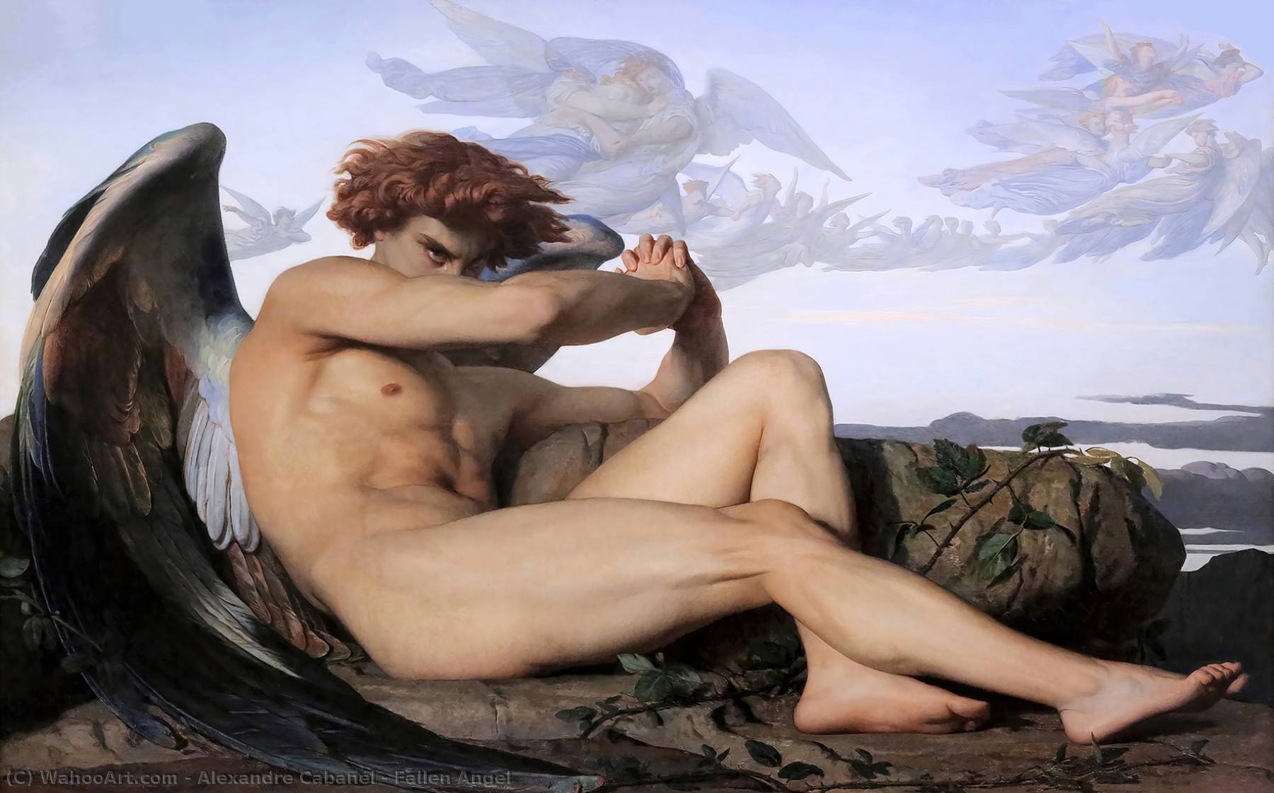 famous painting anjo caído of Alexandre Cabanel