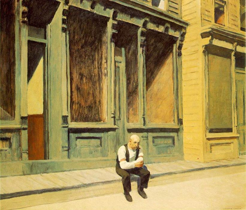 | Domingo por Edward Hopper | Most-Famous-Paintings.com