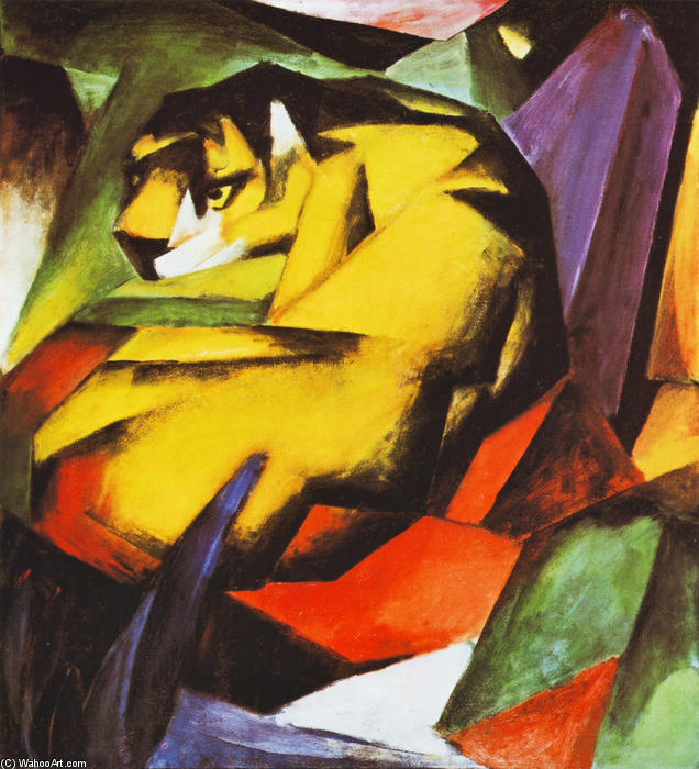 famous painting Tigre of Franz Marc