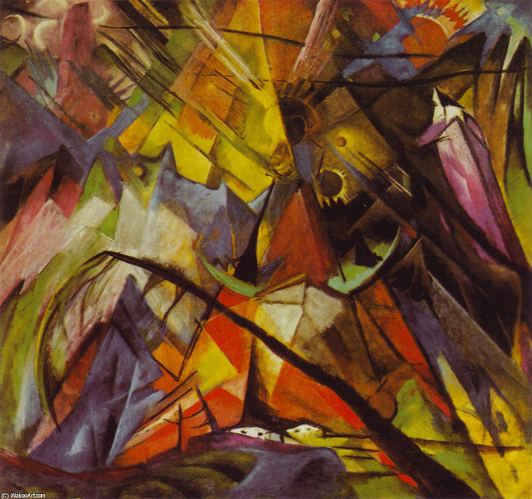 famous painting Tirol of Franz Marc