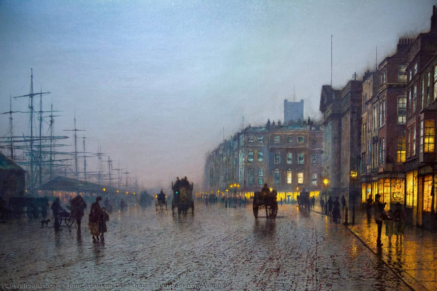 Ordem Copy Pintura : Liverpool a partir de Wapping por John Atkinson Grimshaw | Most-Famous-Paintings.com
