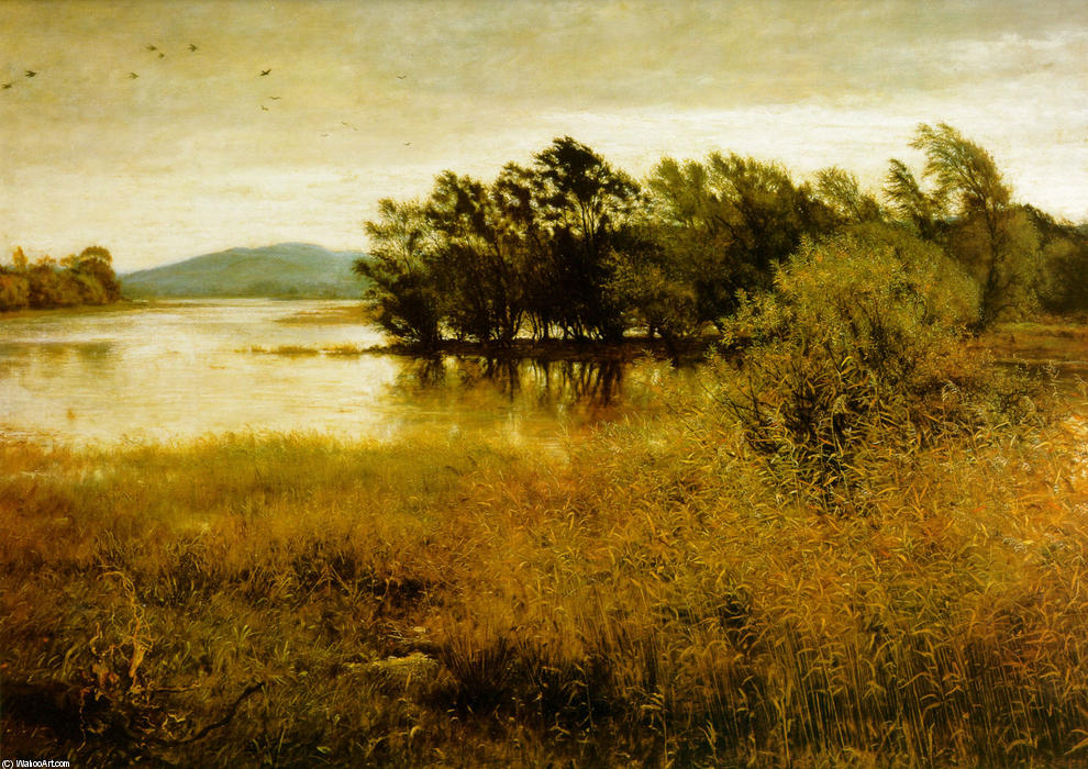 famous painting Chill-outubro of John Everett Millais