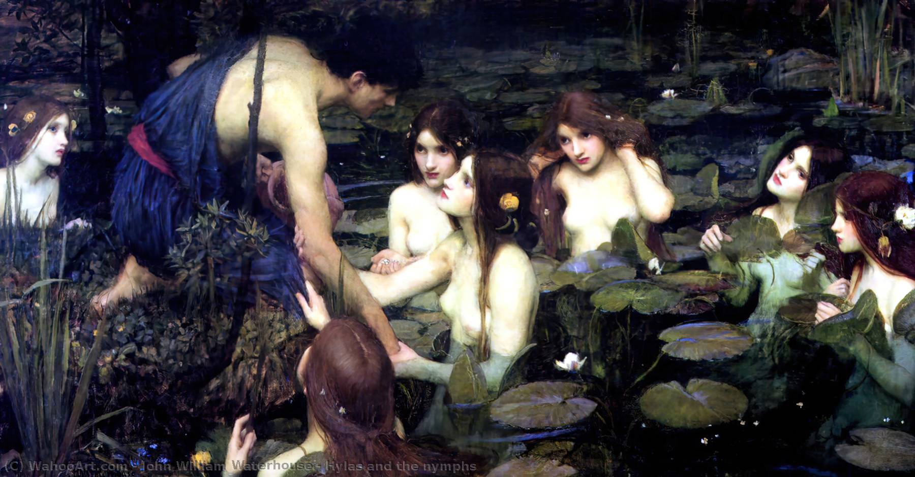 Compre Museu De Reproduções De Arte | Hylas e as ninfas por John William Waterhouse | Most-Famous-Paintings.com