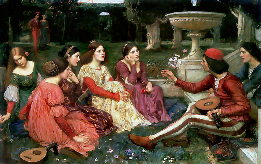 famous painting Conto do Decameron of John William Waterhouse