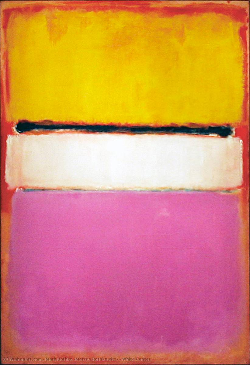 famous painting white center of Mark Rothko (Marcus Rothkowitz)