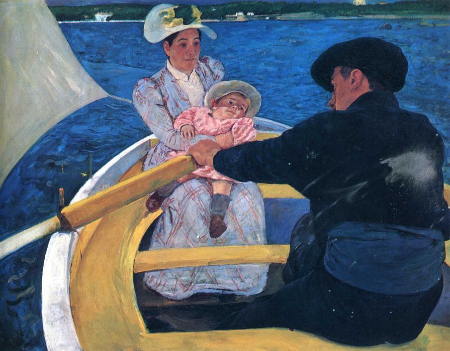 famous painting O partido do barco of Mary Stevenson Cassatt