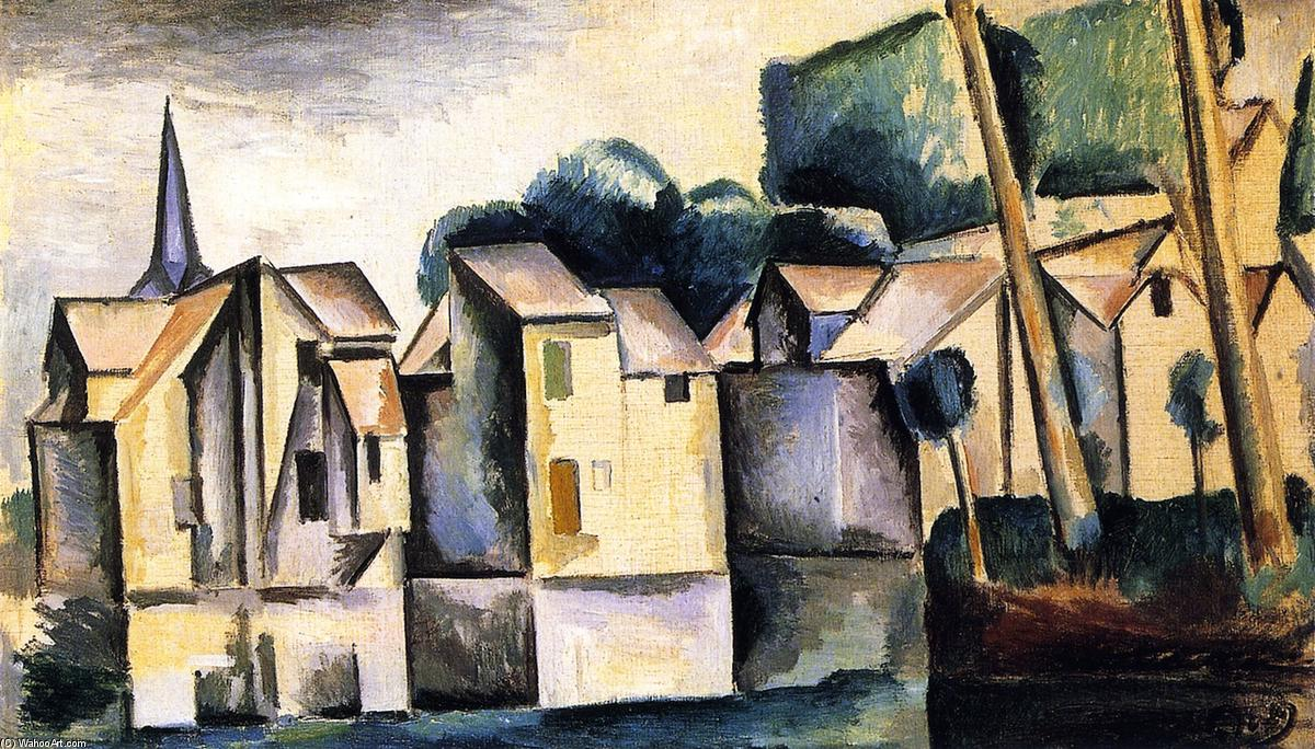 famous painting Casas no beira-rio of André Derain