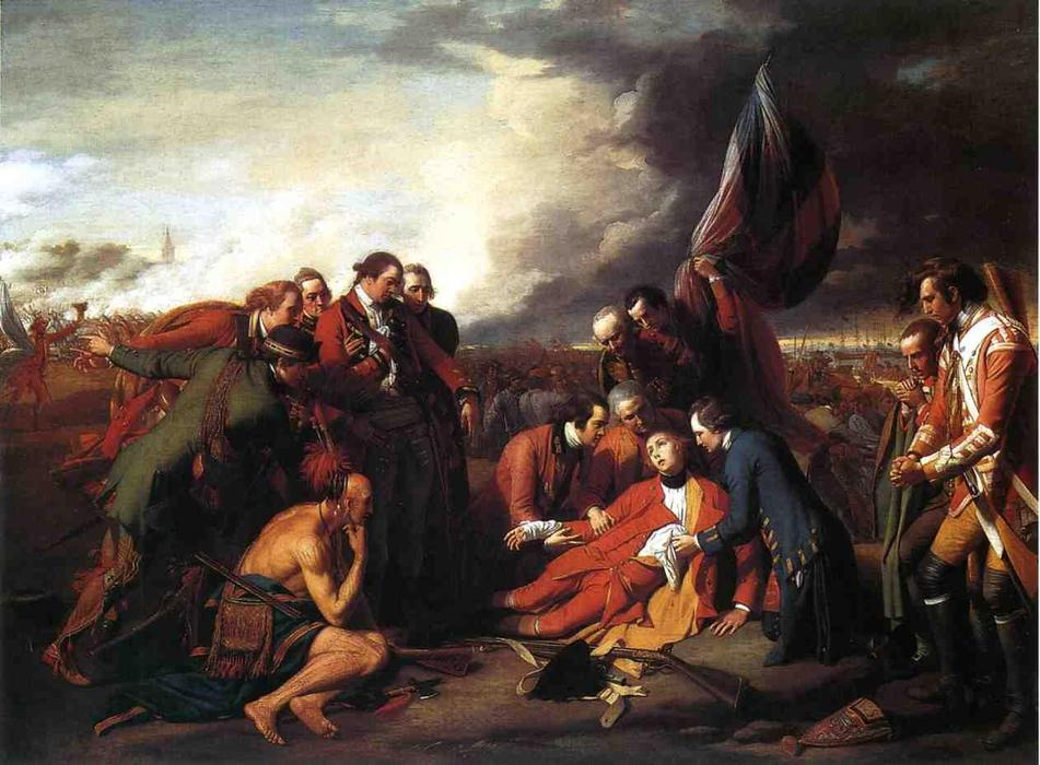 famous painting A morte do general Wolfe of Benjamin West