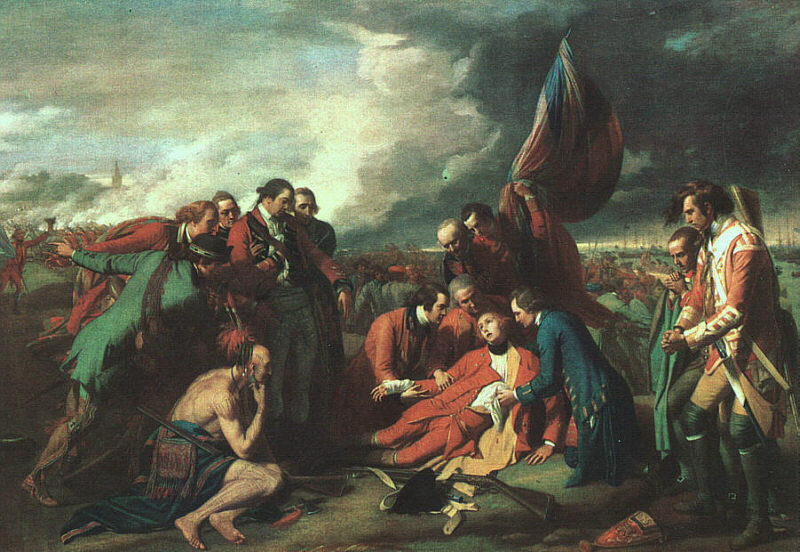 famous painting A Morte de Wolfe of Benjamin West