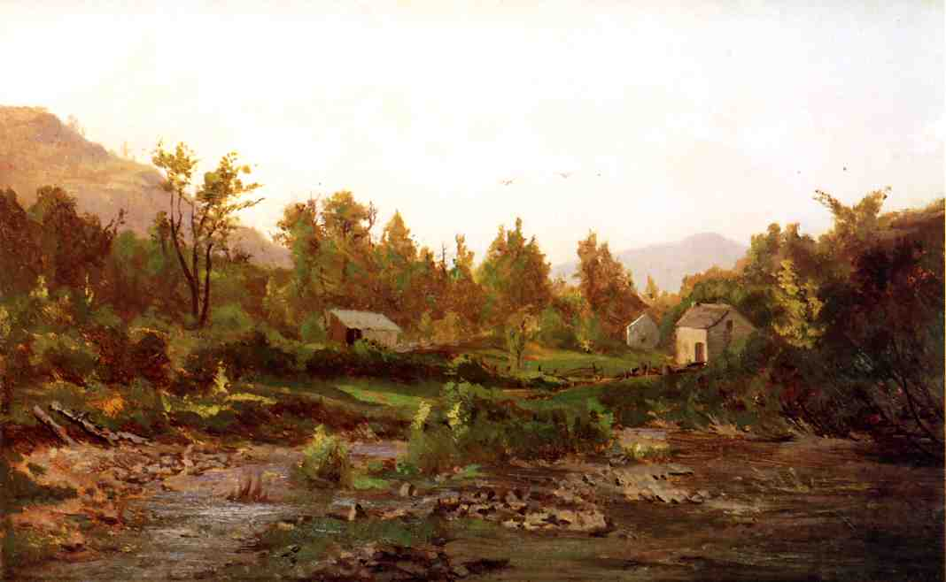 famous painting paisagem com árvores e  gado  of Thomas Worthington Whittredge