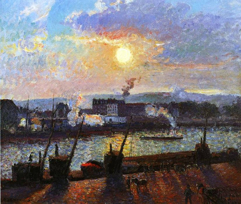 famous painting Sol , Rouen of Camille Pissarro