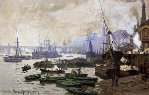 Claude Monet - barcos no porto de londres