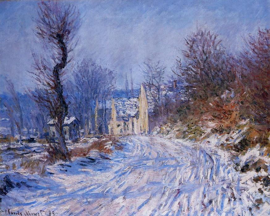 famous painting estrada para giverny no inverno of Claude Monet