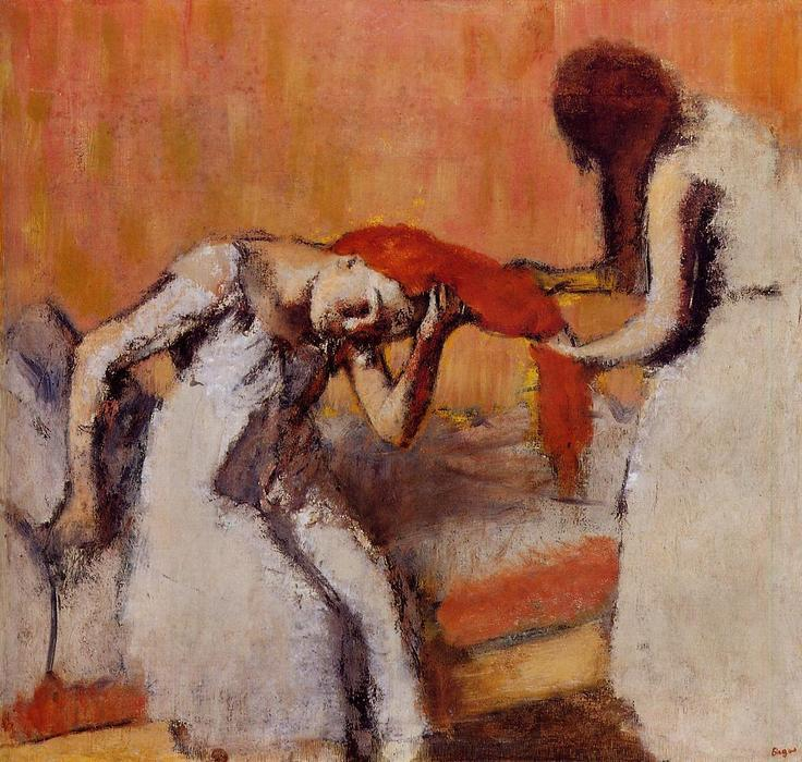 famous painting Pentear o cabelo 1 of Edgar Degas