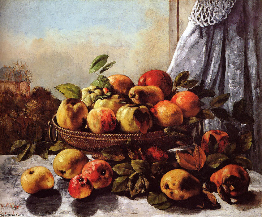 famous painting natureza fruto of Gustave Courbet