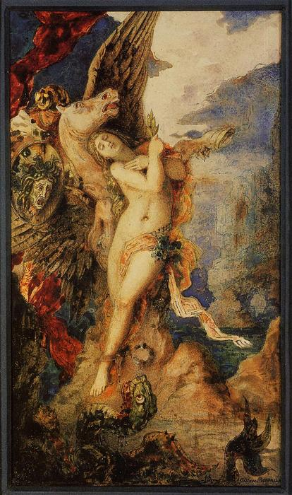 famous painting Perseus e Andromeda of Gustave Moreau