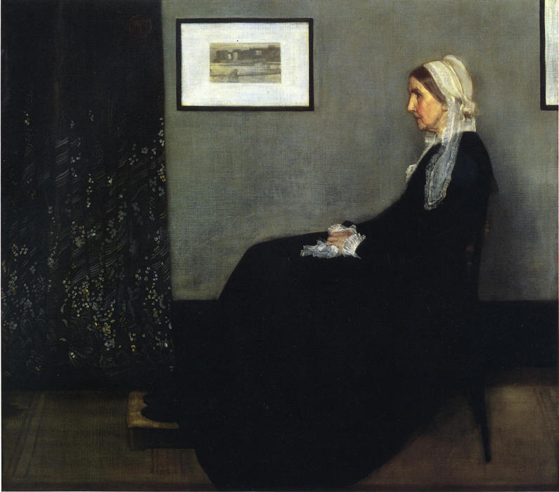 famous painting arranjo em cinzento e preto . Retrato do Painter's Mãe of James Abbott Mcneill Whistler