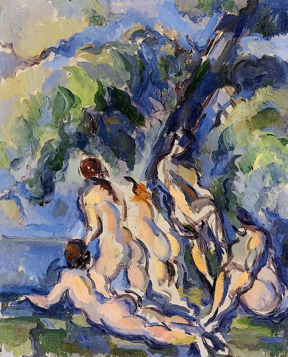 famous painting Banhistas 3 of Paul Cezanne