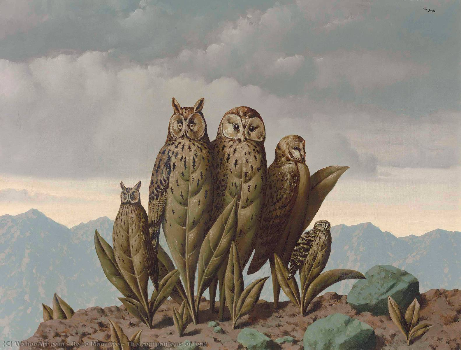 famous painting o Companheiros  dos  medo  of Rene Magritte