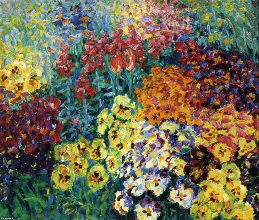 | Jardim Florido. Pansies por Emile Nolde | Most-Famous-Paintings.com