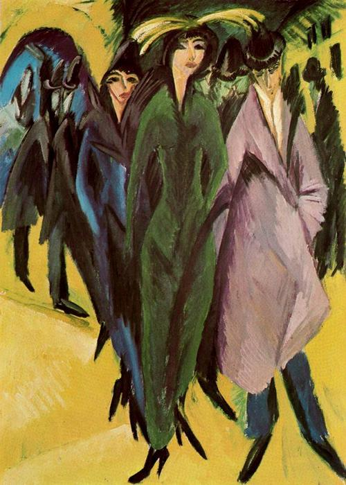famous painting mulheres em o rua of Ernst Ludwig Kirchner
