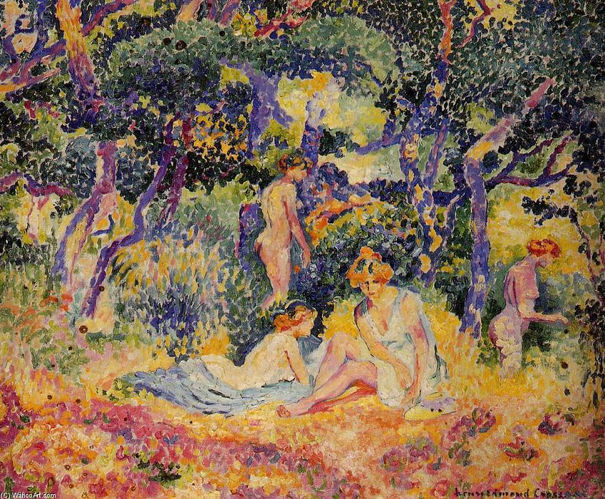 famous painting O Bosque of Henri Edmond Cross