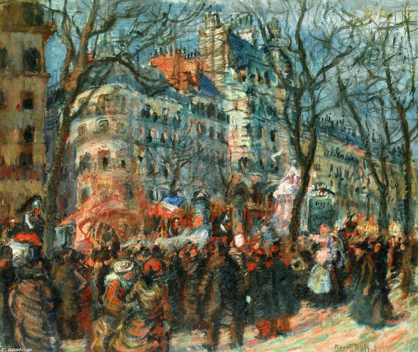 famous painting Carnaval do Grands Boulevards of Raoul Dufy